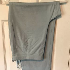 Talbots Pants - Talbot's pale slate blue skinny crop pants